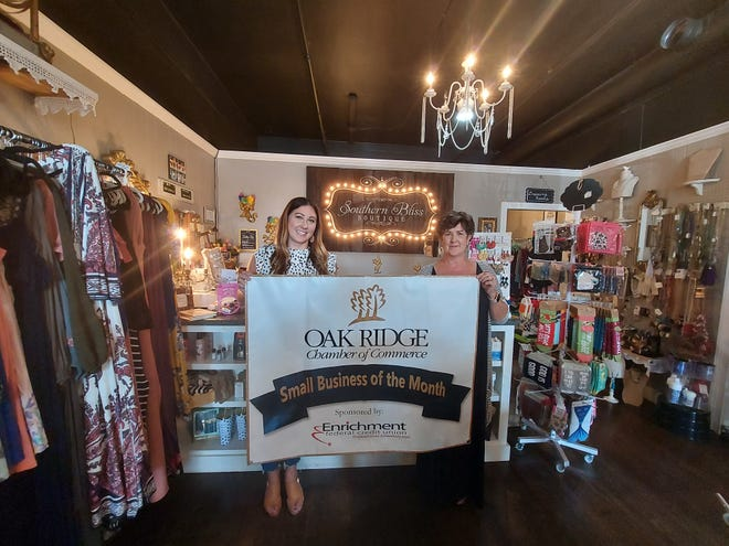 Mother-daughter team Denice Parten, right, and Meghan O'Neal are the co-owners and driving forces behind Southern Bliss Boutique. The boutique is the Oak Ridge Chamber of Commerce's Small Business of the Month for August.