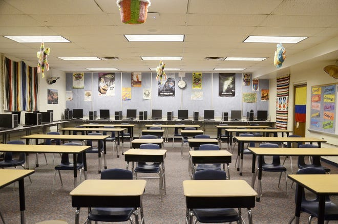 A look inside a classroom at Petoskey High School. The Petoskey Public Schools' 2021-22 preparedness plan includes a requirement for face masks under certain circumstances related to the ongoing COVID-19 pandemic.