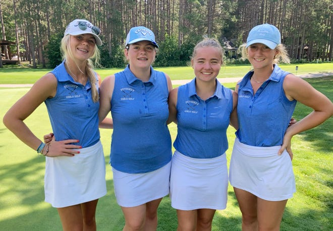 Petoskey girls golf members (from left) Marley Spence, Sara Hasse, Laura Pawlick and Aubrey Williams made strides in the Lober Classic this week.