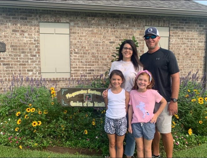 The Duponts received Plaquemine Garden Club's August Yard of the Month.