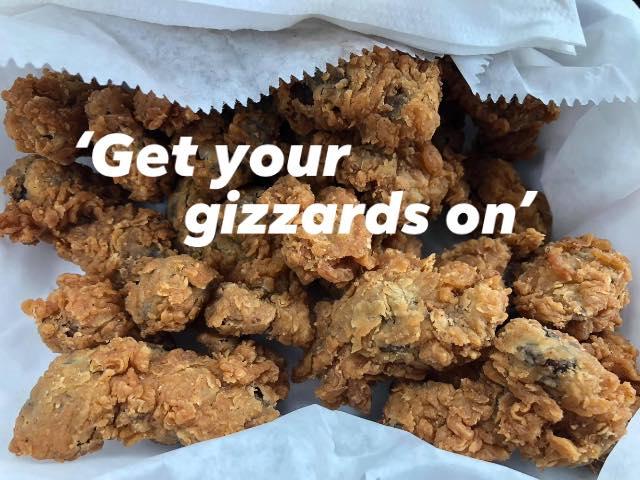 Fried chicken gizzards prepared by Golden Skillet in Petersburg, Va.