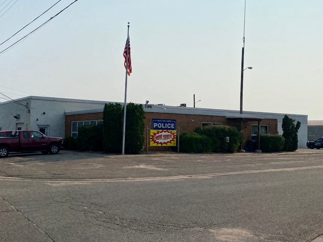 The exterior of the Sault Ste. Marie Police Department, located on 401 Hursley St. in the Sault.