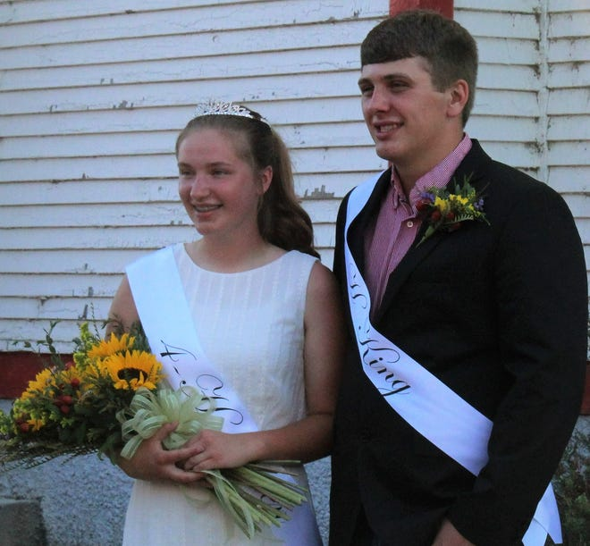 Lane Krueger and Jessemy Sharp were crowned 4-H king and queen at the 4-H royalty ceremony  Thursday evening at the Brown County Fair.