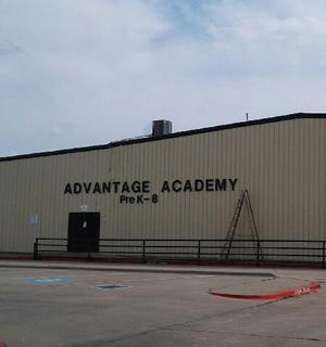 An exterior view of Advantage Academy's Waxahachie campus.