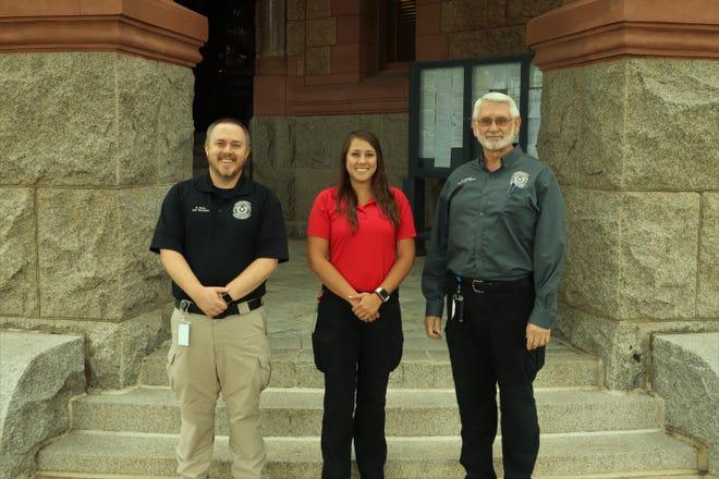 The Ellis County Emergency Management Team: (left to right) Brian Davis, Emergency Specialist; Samantha Pickett, Emergency Management Coordinator; Ralph Mulvany, Administrative Planner.