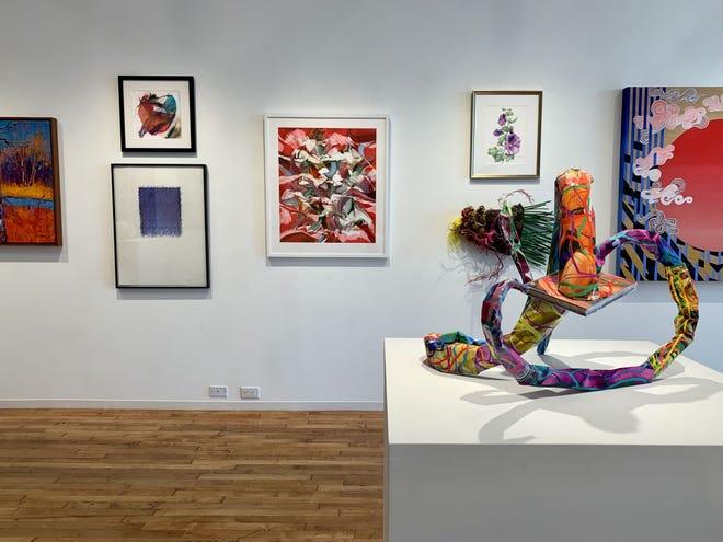 "The exhibit ""Now in Technicolor"" is on display at ArtsWorcester."