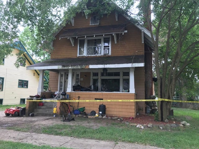 No injuries were reported in a fire which damaged the rear of this home on Oaklawn Avenue.