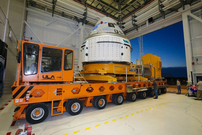 Boeing Starliner is back in the factory after the aborted launch Aug. 3. Teams are still working to resolve the issue with the spacecraft's propulsion system valves.