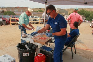 Kyle Austin, a traveling pharmacist-turned-entrepreneur, gave out 20 covid-19 doses on a recent Saturday in Virginia City, a town of roughly 120 year-round residents. His business model is to collect vaccine stragglers as he makes a circuit across Montana.
