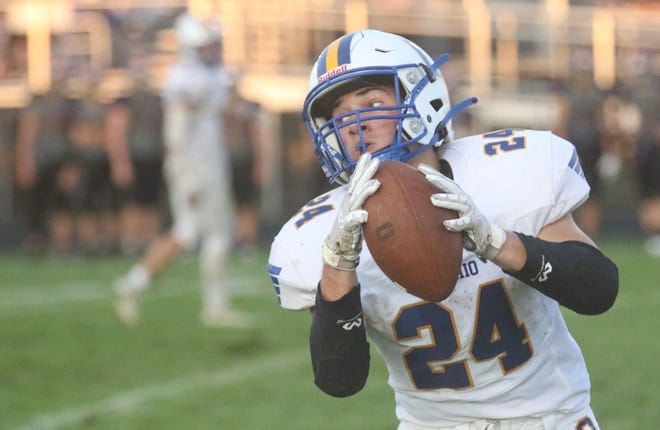 Ontario's Chase Studer was voted the Mansfield News Journal Football Player of the Week for Week 3.