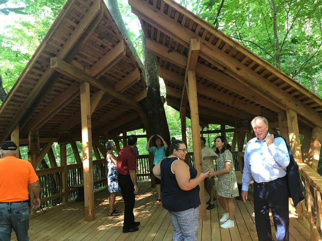 The Treehouse Classroom completion was celebrated Friday night at the Ohio Bird Sanctuary.