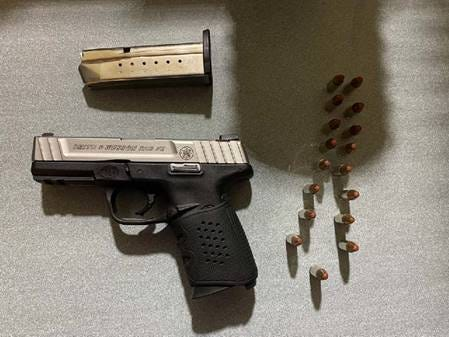 This handgun was detected Thursday by TSA officers in a passenger's carry-on bag at a Milwaukee Mitchell International Airport security checkpoint.