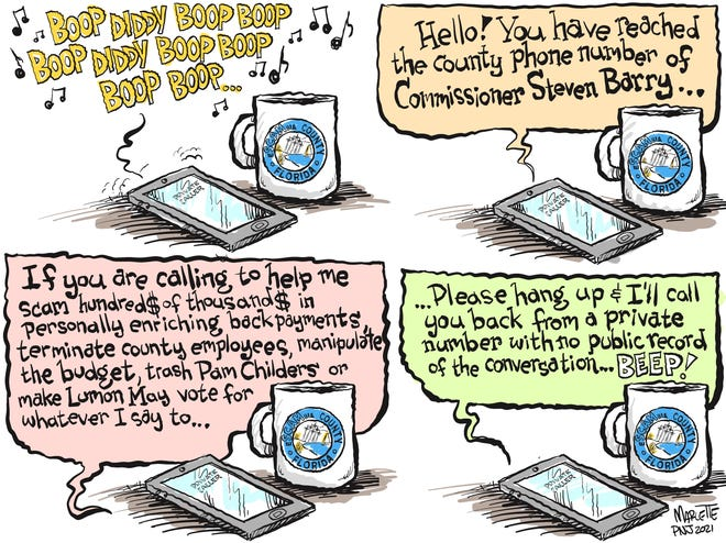 Marlette cartoon: Calling your commissioner!