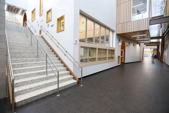 Inside the new Boyd Elementary School building on Thursday, Aug. 20, 2021.
