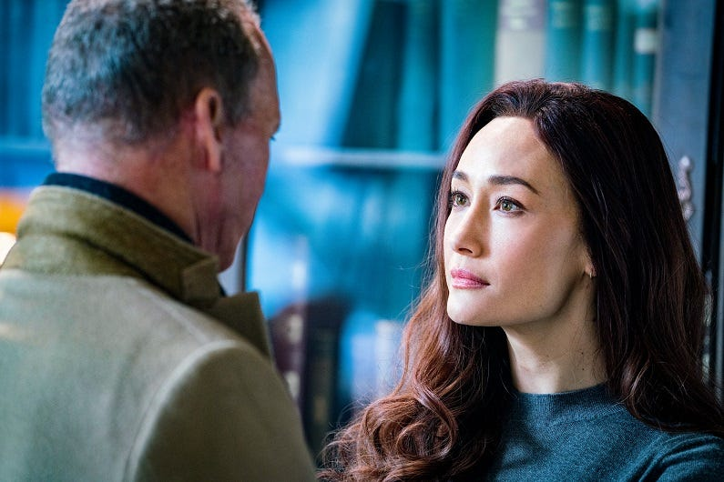 Maggie Q spills about that bloody  Protégé ending, why she s OK with second billing to Michael Keaton