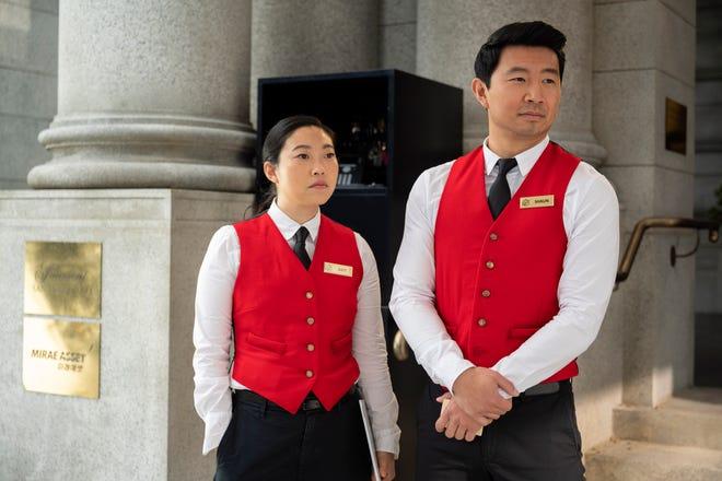 """""""Shang-Chi"""" stars Simu Liu as Shang-Chi (right) and Awkwafina (left)"""