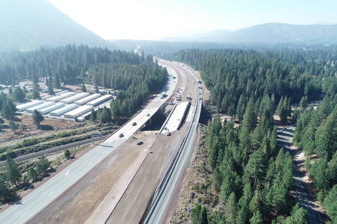 Beginning Monday night, the next stage of construction will start on the Black Butte Overhead project just south of Weed,
