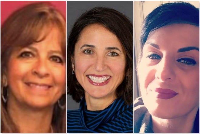 From left, Linda Zuba, Mary McNamara Bernsten, Mel Champion