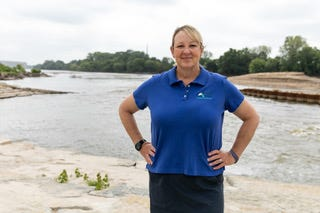 Dawn Buehler works to serve as the eyes, ears and voice of the Kansas River in her job as Kansas Riverkeeper and executive director for the nonprofit group Friends of the Kaw.