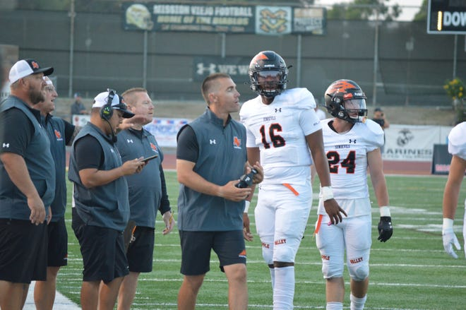 The Apple Valley Sun Devils lost 44-21 against Mission Viejo on Friday, Aug. 20, 2021.