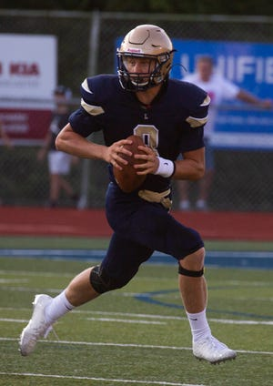 Lancaster junior quarterback Trace Van Gundy has passed for 406 yards and four touchdowns through the first four games. The Golden Gales will travel to Olentangy Berlin on Friday for a non-conference game.