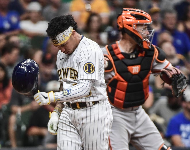 Kolten Wong is among the Brewers hitting much better on the road. He had a .378 on-base percentage and .860 OPS on the road, compared to .295 and .701 at home entering Saturday.