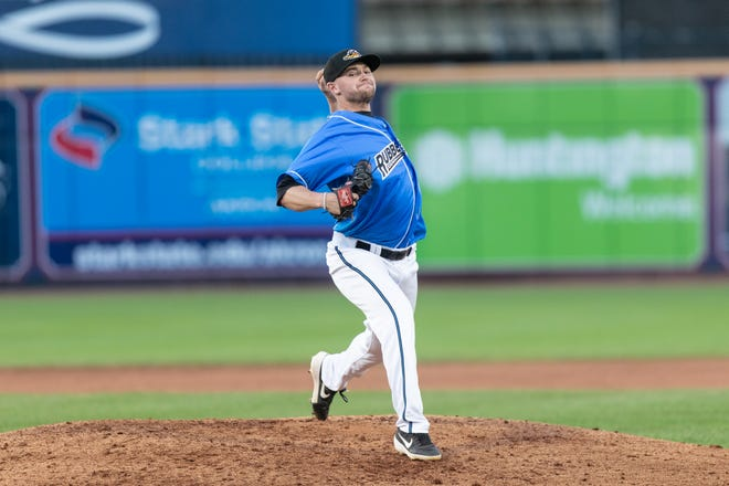 RubberDucks relief pitcher Ben Krauth thrives in various roles. [Photo courtesy of Akron RubberDucks]