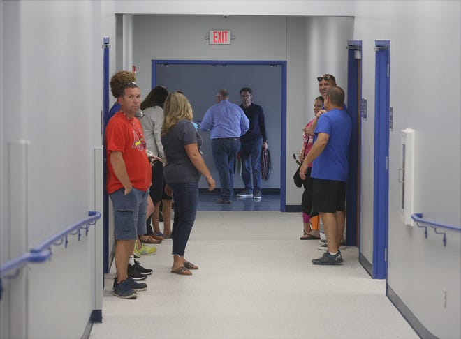 Boonville residents were given tours of the new connector between Boonville High School and B-Tech after the ribbon cutting on Thursday.