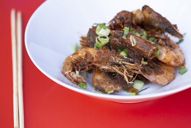 Salt-and-pepper shrimp at Lan Viet in the Bridge Park North Market