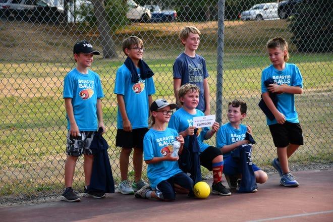 "10U champions the ""Beastie Balls"" with Grant Moe, Blair Johnson, Jude Johnson, Hunter Brownsell, Greyson Solberg, Kelby Fee and Ashton Cameron"