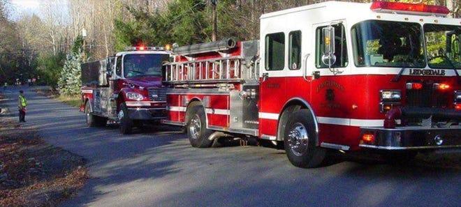 Ledgedale Volunteer Fire Company (Station 36), on scene./ Station 36 photo