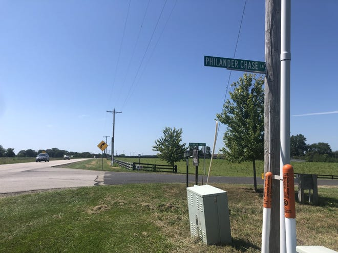 """Peoria County Sheriff's deputies found a female who had been shot several times at the intersection of U.S. Route 150 and Philander Chase Lane early Sunday morning. A """"person of interest"""" was taken into custody hours later, officials have said."""