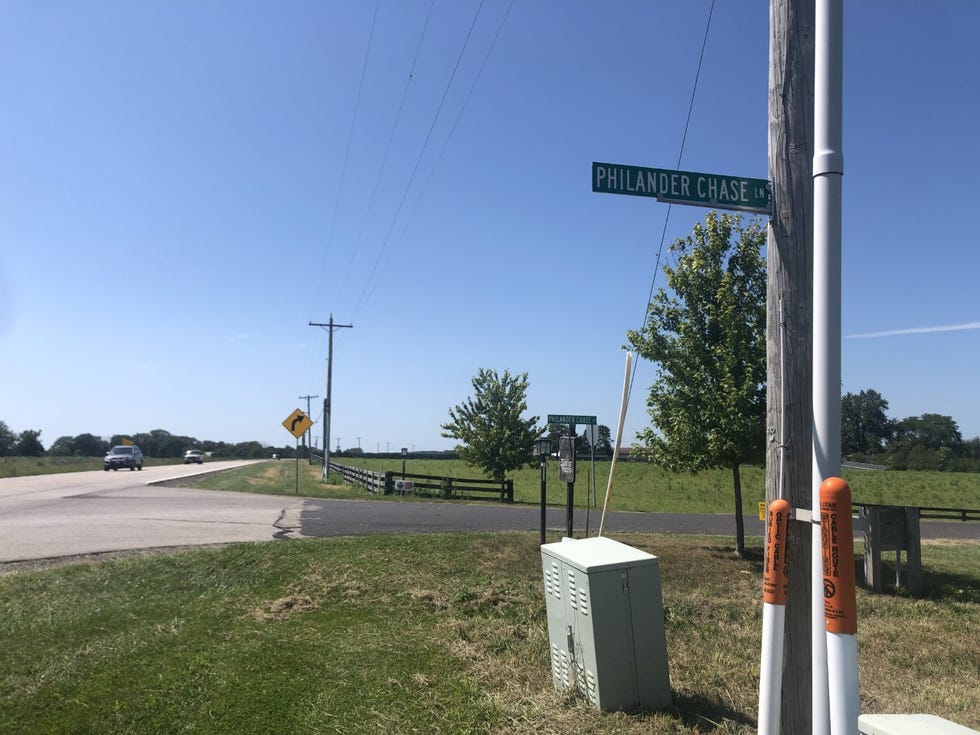 """Peoria County Sheriff's Office deputies found a female who had been shot several times at the intersection of U.S. Route 150 and Philander Chase Lane early Sunday morning. A """"person of interest"""" was taken into custody hours later, officials have said."""