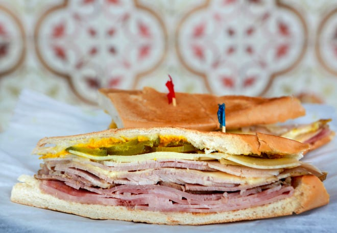 Iconic dish from an iconic corner: the Cuban sandwich at Havana Restaurant in West Palm Beach.