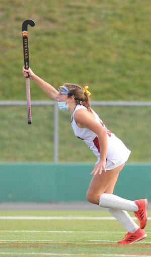 East Greenwich's Alex Mega, celebrates a game-winning goal last season against La Salle. Last year's fall season was abbreviated because of the pandemic; the hope is that this year's season will be played in its entirety.