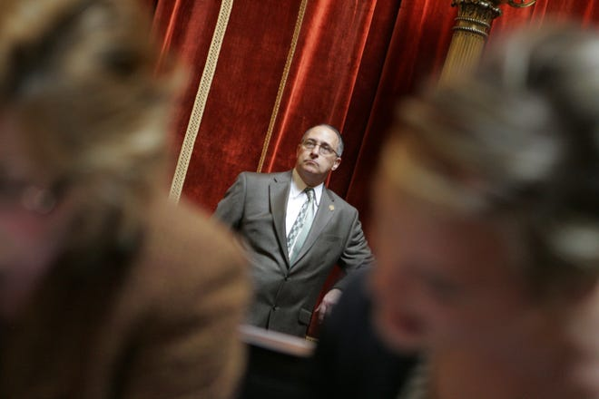 Paul Valletta Jr. of the Rhode Island State Association of Firefighters, in the House chamber before the start of the day's session in 2012. The political arms of Rhode Island's firefighter unions donated a total of $97,443 between January 1 and June 30.
