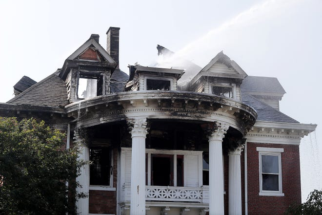 A century-old mansion at 729 Lincoln Way E was gutted by fire Aug. 21. The home, which was recently purchased and was being restored, was most recently the home of The Independent. The newspaper moved out in July 2020.