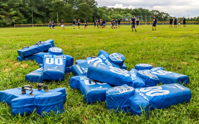 The scent of high school football was in the air on Friday afternoon as the defending South Coast Blue Champion Apponequet Lakers began workouts for the upcoming season.