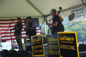 The Robert Mabe Band from North Carolina performed Sunday at the Laurel Hill Bluegrass Festival at Laurel Hill State Park.