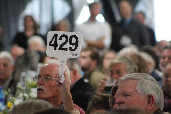 Bidding was active throughout Saturday's Russell Art Auction