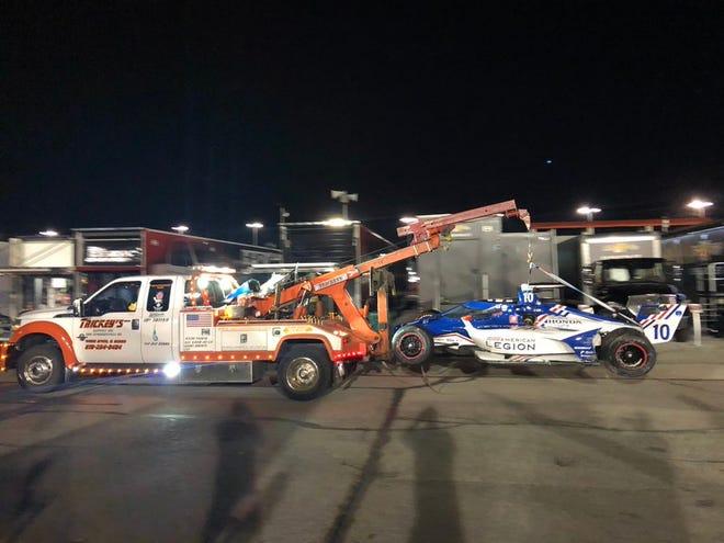 IndyCar points leader Alex Palou crashed during Saturday's race at Gateway.