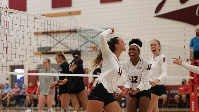 The New Mexico State volleyball team hosted Texas Tech in an exhibition match on Saturday.