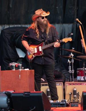 Chris Stapleton played the Outlaw Music Festival on Aug. 22 in Austin alongside headliner Willie Nelson & Family.