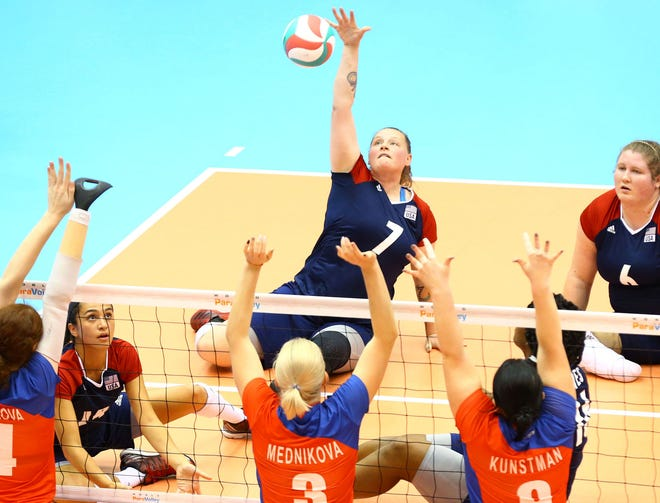 Monique Burkland Matthews, who attended Plainview High School, is set to represent Team USA in sitting volleyball at the Tokyo Paralympics.