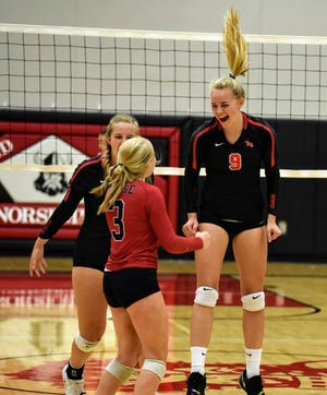 Senior middle blocker Reagan Barkema is back to help the Roland-Story volleyball team celebrate more victories in 2021. The Norse are looking to defend their HOIC championship.