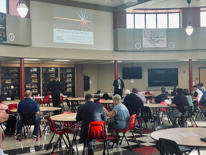 Stakeholders which consisted of educators, community members, business members, parents, and current high school students attended the Kansas Success Tour meeting in El Dorado on Thursday, August 18, 2021.