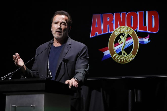 Followingcomments from Arnold Schwarzenegger — seen here in 2020 —about the importance of wearing face masks, corporate sponsor REDCON1 pulled from this year's Arnold Classic.