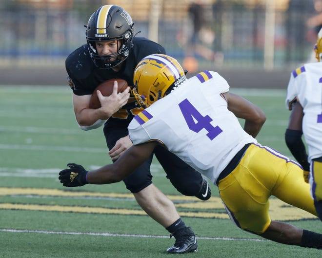 Carson Gresock totaled more than 400 all-purpose yards and scored four touchdowns while leading Upper Arlington to a 42-41 comeback victory over visiting Reynoldsburg on Aug. 20.