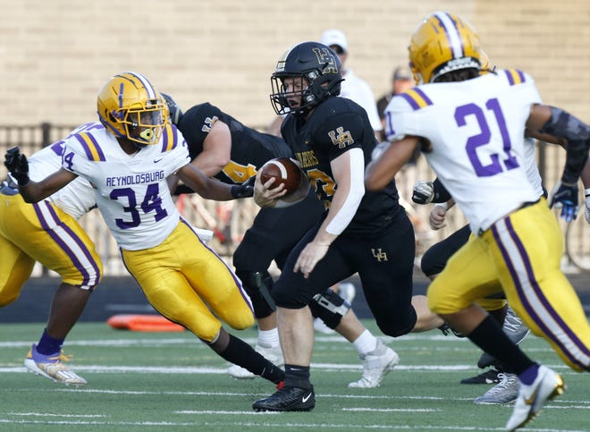 Upper Arlington's Carson Gresock earned our Player of the Week honor for Week 1, based on a staff vote. He rushed for a program-record 384 yards and four touchdowns on 29 carries in a 42-41 win over Reynoldsburg.