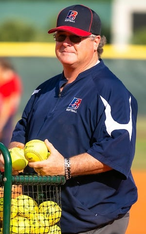 James Bayly, shown here at a practice at Altamonte Springs Lake Brantley, has been named head softball coach at Mount Dora Christian Academy, replacing Josh Swearingen, who stepped in May after six seasons with the the Bulldogs. [COURTESY / MDCA]
